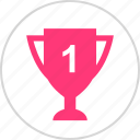 number, one, top, trophy icon