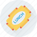 box, break, food, lunch box, meal icon