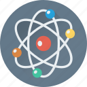 atom, electron, molecular bond, molecule, science icon