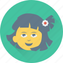 child, girl, little girl, schoolchild, schoolgirl icon