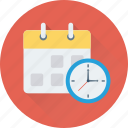 appointment, clock, deadline, schedule, timer icon