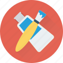 brush, color, color tube, paint, paint brush icon