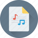audio, audio clip, mp3, music file, song icon