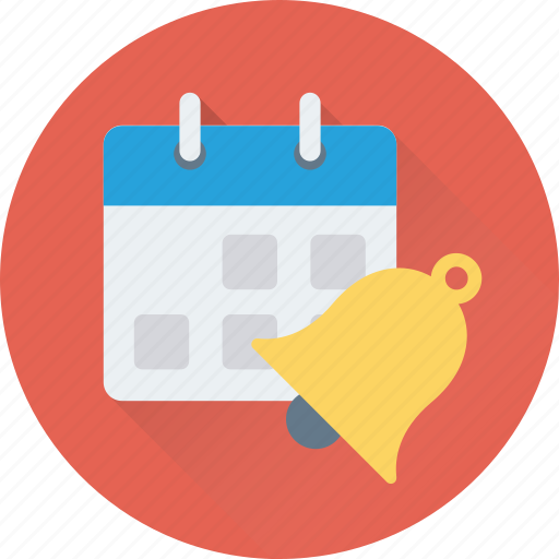 bell, calendar, ring, schedule, timetable icon
