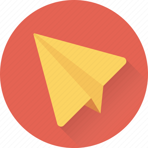 airplane, origami, paper aeroplane, paper plane, send icon