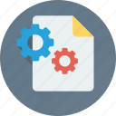 cogs, file, file settings, gear, settings icon