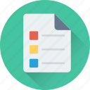 checklist, documents, file, list, sheet icon