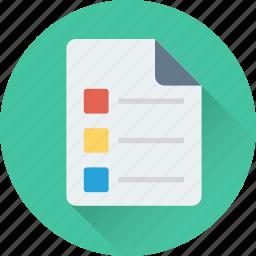 checklist, documents, file, list, sheet icon