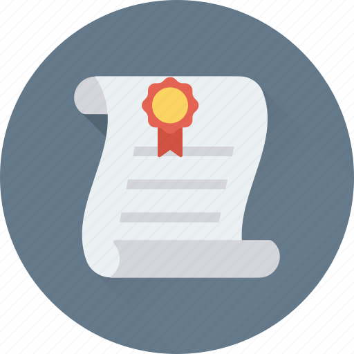 certificate, certification, degree, diploma, licence icon