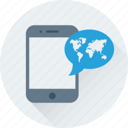 cell phone, chat, location, mobile, smartphone icon