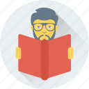 learning, pupil, reading, student, study icon
