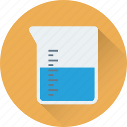 beaker, experiment, lab test, laboratory, measuring cup icon