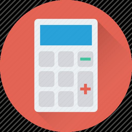 accounting, calculating device, calculator, digital calculator, math icon