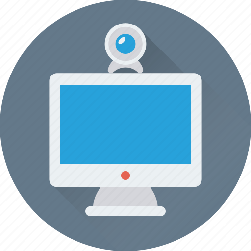 lcd, led, monitor, video chat, webcam icon