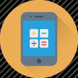 app, calculation, calculator, mobile, mobile calculator icon