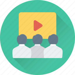auditorium, classroom, lecture, presentation, training icon