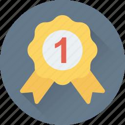 award, badge, emblem, ribbon badge, star icon