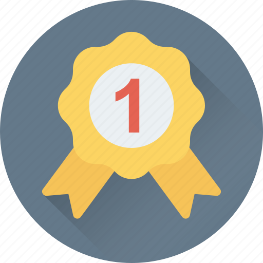 Award, badge, emblem, ribbon badge, star icon - Download on Iconfinder