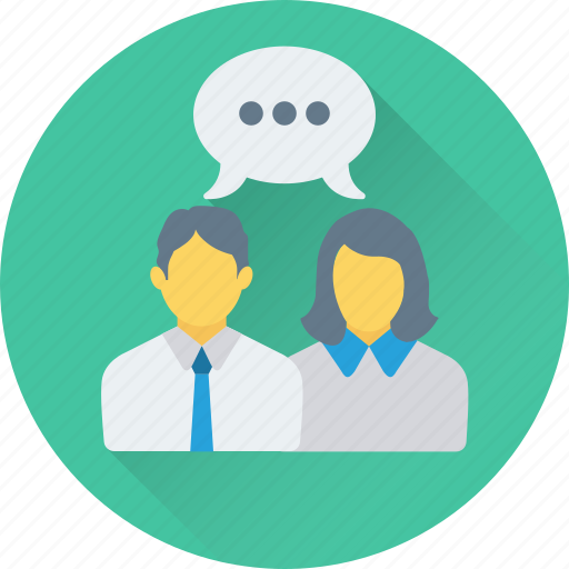 chat bubble, chatting, conversation, couple, speech bubble icon