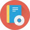 book, cd, dvd, learning, online learning icon