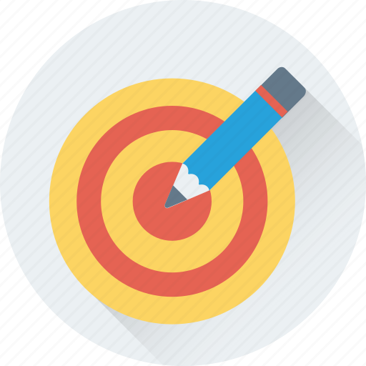 drawing, lead pencil, pencil, stationery, target icon