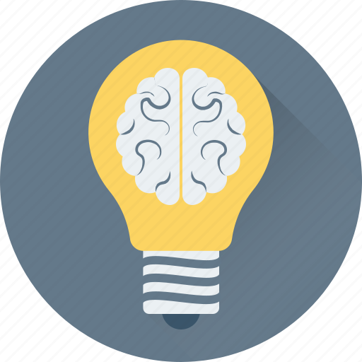 brain, bulb, creativity, human brain, idea icon