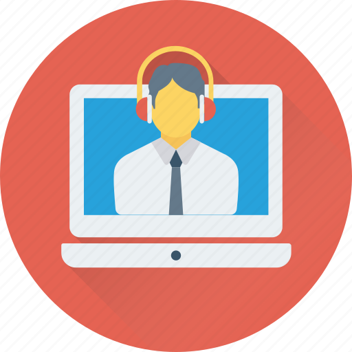 conference, e learning, education, video chat, video lecture icon
