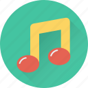 eighth note, lyrics, music, music note, quaver icon
