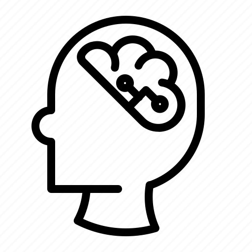 brain, head, idea, inteligent, mind, thinking, wisdom icon