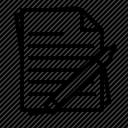 notes, paper, pen, pencil, report, study icon