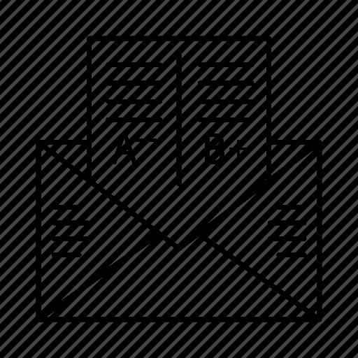 diagram, document, exam report, letter, report icon
