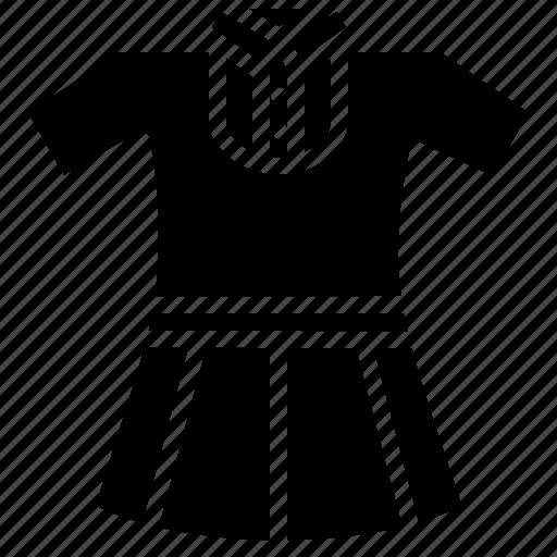 cloth, dress, girl, school, study, uniform icon