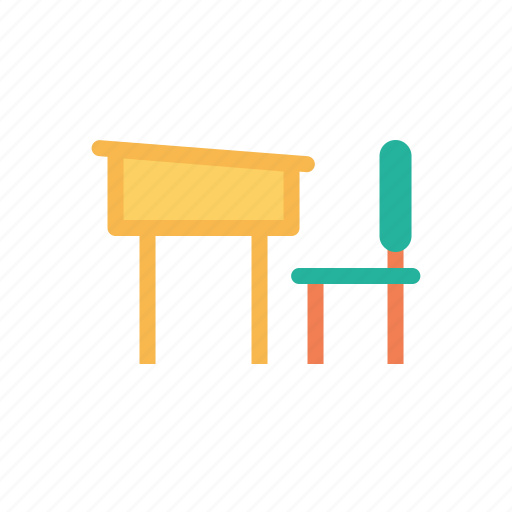 bench, chair, class, education, room, school, study icon