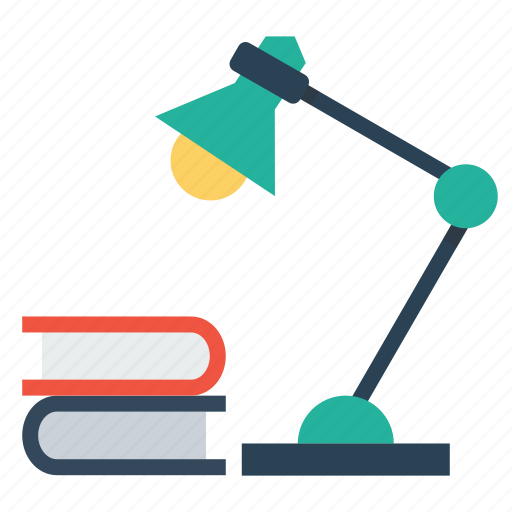 book, education, lamp, night, school, study icon