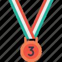 award, bronze, medal, third, trophy, winner