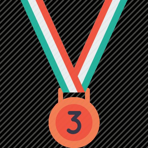 award, bronze, medal, third, trophy, winner icon