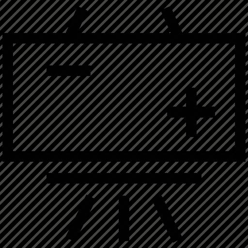 black board, chalkboard, flipchart, tafel board, wandtafel, white board icon