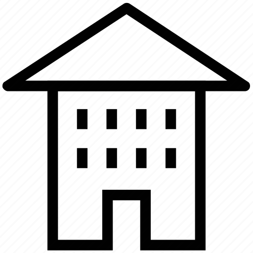 apartment, bungalow, cottage, home, house, residence icon