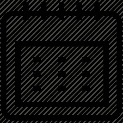 agenda, almanac, annual, appointment, calendar, diary, program, schedule icon
