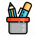 education, knowledge, learn, school, stationary, student, study icon