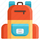 bag, education, knowledge, learn, school, student, study icon