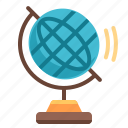 education, globe, knowledge, learn, school, student, study icon