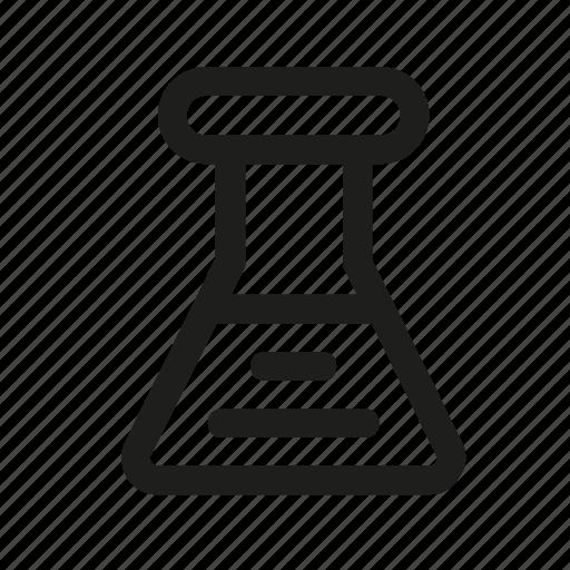 beaker, bulb, chemistry, reaction icon