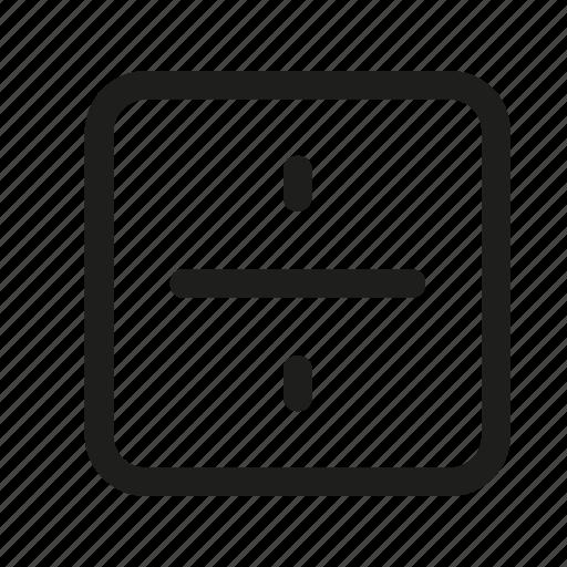 devide, division, dote, square icon