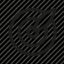 aim, arrow, game, point icon