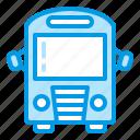 buss, school, transportation, travel icon