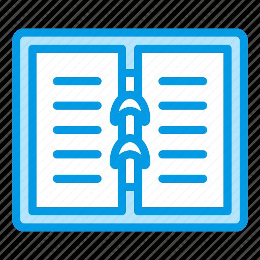 file, folder, notebook, paper, school, supplies icon