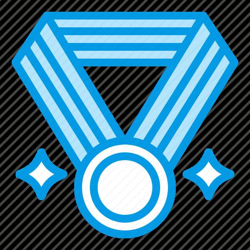 achieve, medal, prize, reward, school icon