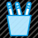 holder, pencil, pens, school, supplies icon
