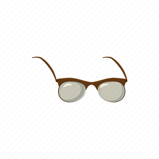cartoon, eye, eyeglass, frame, glass, lens, vision icon